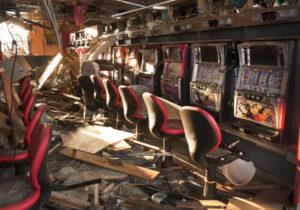 Bis heute zerstörtes Casino in Ofunato - Bild: Getty Images/ Mark Edward Harris