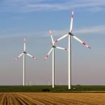 Windmühlen produzieren erneuerbare Energien