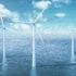 Windturbinen Offshore auf dem Meer