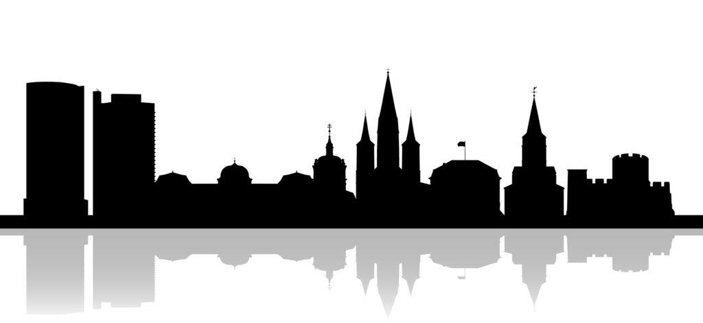Silhouette Bonn (schwarze Skyline)