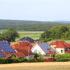 Neubaugebiet mit Solardaechern