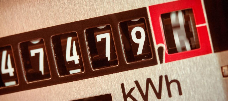 Stromzaehler zaehlt Kilowattstunden